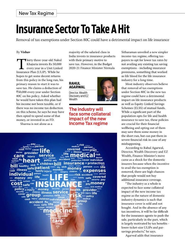 Insurance sector to take a heat - Outlook Money - EZ Wealth